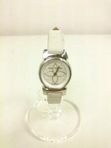 LOUIS VUITTON◆クォーツ腕時計/アナログ/タンブールビジュー/Q151C/シェル/革ベルト/モノグラム