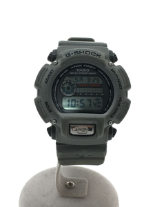 CASIO◆腕時計/デジタル/ラバー/BLK/KHK
