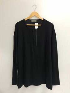 yohji yamamoto POUR HOMME◆2020/LUMINERY CLEAR SMOOTH ZIPPER HENRY NECK/ヘンリーネック/3/ウール