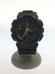 CASIO◆クォーツ腕時計・G-SHOCK/GA-100CF/デジアナ/BLK