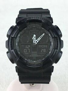 CASIO◆クォーツ腕時計・G-SHOCK/デジアナ/黒/GA-100CF-1AJF