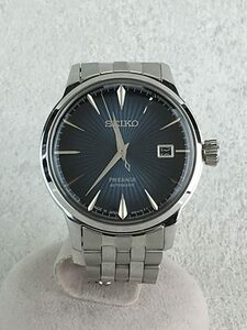 SEIKO◆自動巻腕時計/アナログ/ステンレス/BLU/SLV/SS/4R35-01T0