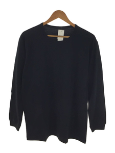 ISSEY MIYAKE MEN◆長袖Tシャツ/3/コットン/BLK/ME91JK052