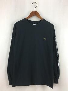 FRAGMENT DESIGN◆長袖Tシャツ/2/コットン/ブラック/稲妻ロゴ