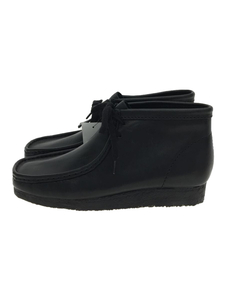 Clarks◆ALL LEATHER Wallabee Boot/ワラビー/ブーツ/27cm/BLK/261036667070