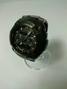 CASIO◆MGR-7700B-1AJF/ソーラー腕時計・G-SHOCK/デジアナ/チタン/BRW