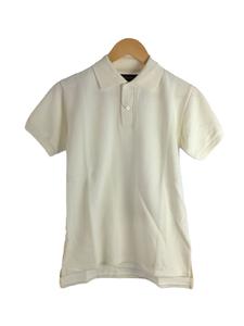 MADISONBLUE◆SEED STITCH POLO/半袖ポロシャツ/0/コットン/WHT/MB171-7009