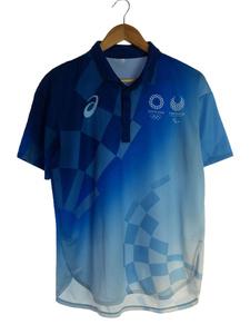 ポロシャツ/L/ポリエステル/BLU/東京オリンピック2020