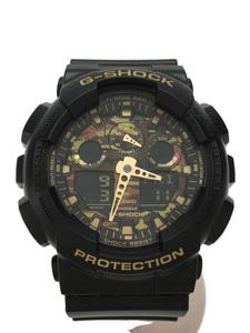 CASIO◆クォーツ腕時計・G-SHOCK/デジアナ/BLK/カモフラ/箱有/GA-100CF-1A9JF