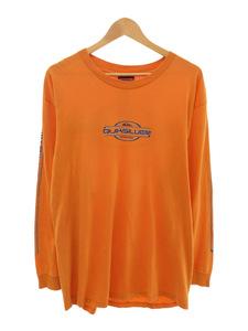 QUIKSILVER◆長袖Tシャツ/USA製/-/オレンジ