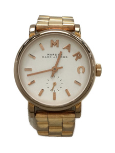 MARC BY MARC JACOBS◆クォーツ腕時計/アナログ/ステンレス/WHT/GLD