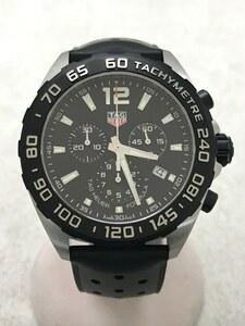 TAGHeuer◆クォーツ腕時計/アナログ/ラバー/BLK/BLK/フォーミュラ1/クロノグラフ43mm/箱付属