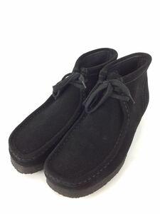 Clarks◆wallabee boot/ブーツ/UK10/BLK/スウェード
