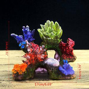 LDL495# 水槽 サンゴ礁 装飾 オブジェ 隠れ家 熱帯魚 観賞魚 オーナメント アクアリウム カラフル アクセサリー 水景