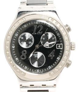 【1円スタート】 訳あり スウォッチ 腕時計 IRONY クオーツ ブラック メンズ Swatch
