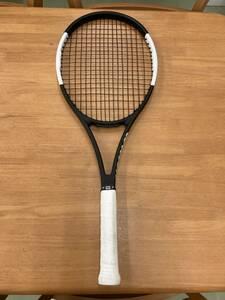 ★☆硬式テニスラケット Wilson Prostaff 97CV Ver12黒×白 AKpro16☆★