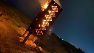 自作 焚き火台 灯籠