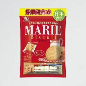 新品 好評 お菓子 非常食 4-GG 3枚パック×4袋 6年保存 クッキ- 森永製菓 保存用 マリ-袋
