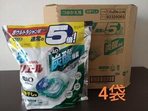 アリエール ジェルボール 4D 部屋干し 詰替 超ウルトラジャンボ(60個)4袋
