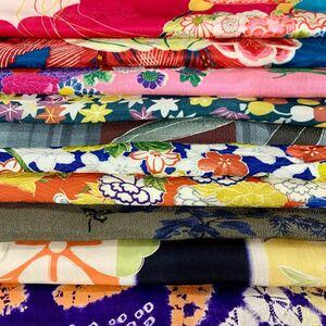絹 はぎれ 10枚セット 材料 アンティーク ハンドメイド 古布