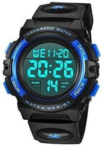 新品◎子供腕時計◆男の子◆デジタル腕時計◆ボーイズスポーツウォッチ◆アウトドア多機能50m防水◆アラート◆日付曜日表示◆デュアルタ