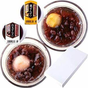 天然生活 ぜんざい 2種(白玉・栗) 8個入り 白玉 栗 和菓子 スイーツ 小豆 冷やしぜんざい セット