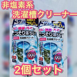 紀陽除虫菊 洗濯槽クリーナー (非塩素系/750g×2個セット) 粉末タイプ 除菌 消臭 生乾き臭防止 ほこり カビ取り