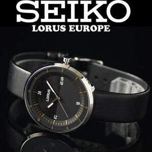 1円×3本セイコーLORUS無駄削ぎ落したシンプルで飽きの来ないデザイン逆輸入ブラック 腕時計 50m防水 新品メンズ日本未発売SEIKOローラス