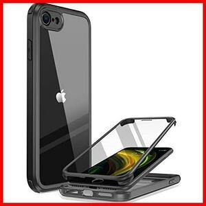 ★大特価★★カラー:黒★ 8 2020 9H強化ガラス SE2 第2世代 HAUNAK 4.7インチ 用ケース SE フルカバー iPhone Miracase