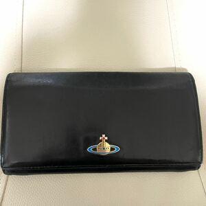 ヴィヴィアンウエストウッド 長財布 NAPPA1032 ブラック/ゴールド
