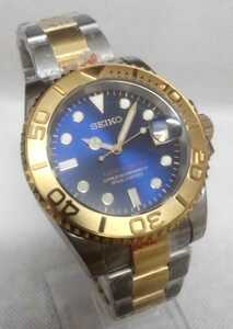 1円スタート カスタムmod ヨットマスター 特注品文字盤 機械式腕時計 セイコー インスツルNH35 ゴールド