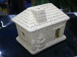 PUREメダカハウス 小さなお家L(レモン)メダカハウスシリーズ 日陰と隠れ家が最適なメダカの家シリーズ☆金魚・熱帯魚・ウーパーに
