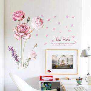 (NO.296)DIY剥がせる壁飾りウォールステッカー綺麗な仕上がり フラワー ¥1,280