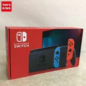 1円~ 動作確認済 初期化済 Nintendo Switch HAC-001(-01)本体 Joy-Con(L) ネオンブルー/(R) ネオンレッド