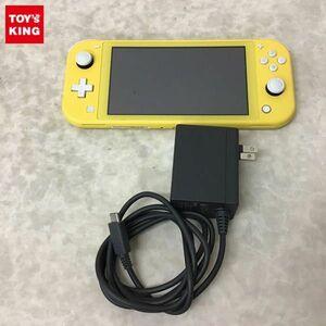 1円~ 箱無 動作確認済/初期化済 Nintendo Switch Lite HDH-001 イエロー 本体、ACアダプター