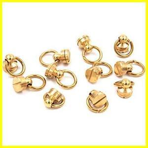 XPdesign トチカン 真鍮 ジョイント金具 レザークラフト 止め金具 バッグ ハンドル ドロップハンドル 財布 高さ18mm (黄銅ブラス 10個d)