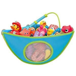 送料無料! お風呂 おもちゃ収納 ハンモック 防水 [ブルー] 撥水 収納ネット 時短 整理整頓 子供 お片付け キッズ ベビー 赤ちゃん バス