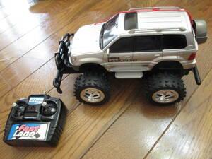 ラジコンカー ランドクルーザー ランクル TOYOTA トヨタ おもちゃ こども 子ども 車 動作確認済み 中古 used シルバー