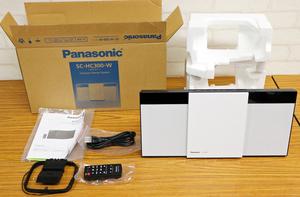 ◇中古品◇コンパクトステレオシステム SC-HC300-W ホワイト パナソニック/Panasonic Bluetooth 箱・取扱説明書つき ※FMアンテナ欠品