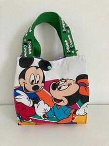 ハンドメイドバッグ 紙袋型 バッグ トート ミッキー ミニー ポーチ 可愛い お散歩バッグ