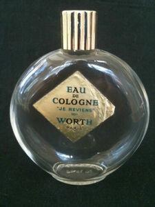 ビンテージ2 1/4 FL. OZ. WORTH JE REVIENS EAU DE COLOGNE ラリック ボトル 瓶 Lalique