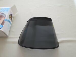 UVサンバイザー くるっとまとめてコンパクト収納 UVカット UPF50 アルファックス 良彩賢暮 アクア 水陸両用 可動式