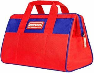 EMTOP ツールバッグ 工具用道具袋 工具バッグ 工具バッグ 大口収納 防水 赤いツールバッグ 1680Dオックスフォード ワ