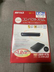 バッファロー USBポータブルHDD 1TB