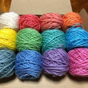 毛糸 手染め糸12色 小巻セット