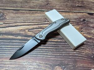 灰色 折りたたみナイフ アウトドア 小型ナイフ サバイバル 釣り キャンプ