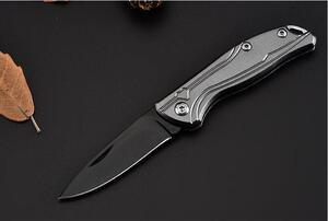 折りたたみナイフ アウトドア 小型ポケットミニナイフ サバイバル 釣り キャンプ 灰色