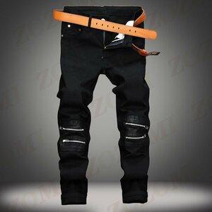 新品ジーンズ メンズ デニムパンツ スキニー カジュアル ファッショ ジーンズ メンズ デニムパンツ スキニー カジュアル ファッション ジ