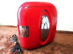ポータブル冷温庫 ワインレッド