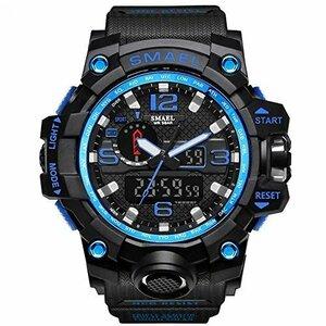 □残1□腕時計 メンズ SMAEL腕時計 メンズウォッチ 防水 スポーツウォッチ アナログ表示 デジタル クオーツ腕時計  多機能 ミリ